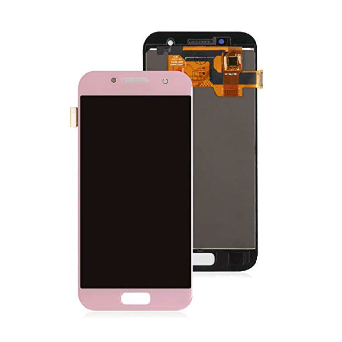 Samsung Galaxy A3 2017 A320 Screen (Touchscreen + AMOLED + Parts) A + Quality - Pink
