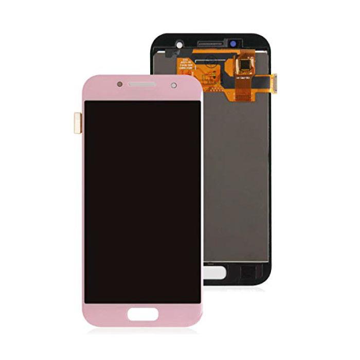 Samsung Galaxy A3 2017 A320 Bildschirm (Touchscreen + AMOLED + Teile) AAA + Qualität - Pink