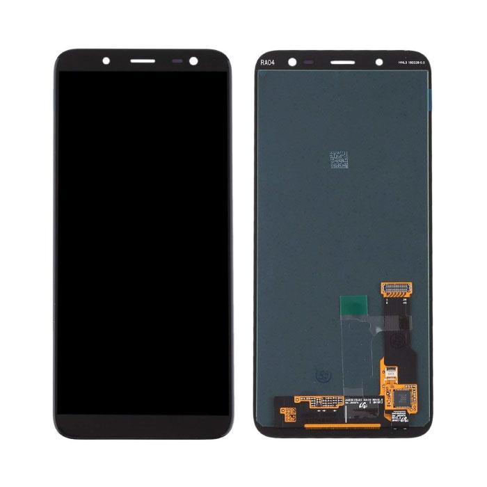Samsung Galaxy A6 Plus 2018 A605 Bildschirm (Touchscreen + AMOLED + Teile) A + Qualität - Schwarz