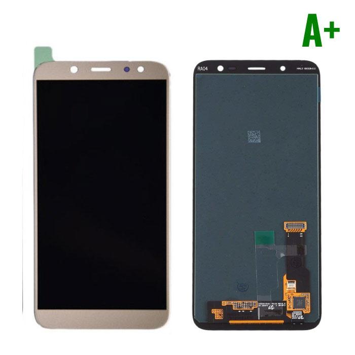 Samsung Galaxy A6 Plus 2018 A605 Scherm (Touchscreen + AMOLED + Onderdelen) A+ Kwaliteit - Goud