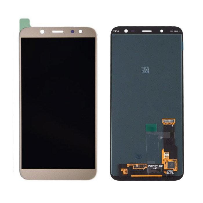 Samsung Galaxy A6 Plus 2018 A605 Bildschirm (Touchscreen + AMOLED + Teile) AAA + Qualität - Gold