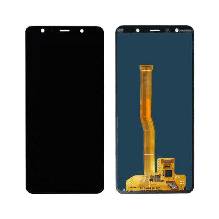 Samsung Galaxy A7 2018 A750 Bildschirm (Touchscreen + AMOLED + Teile) A + Qualität - Schwarz
