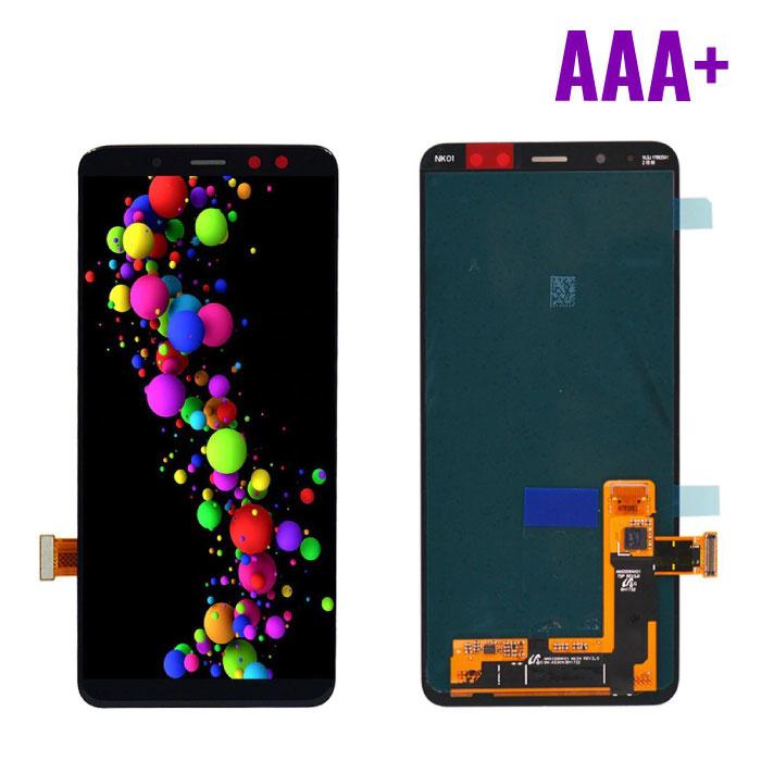 Samsung Galaxy A8 2018 A530 Scherm (Touchscreen + AMOLED + Onderdelen) AAA+ Kwaliteit - Zwart