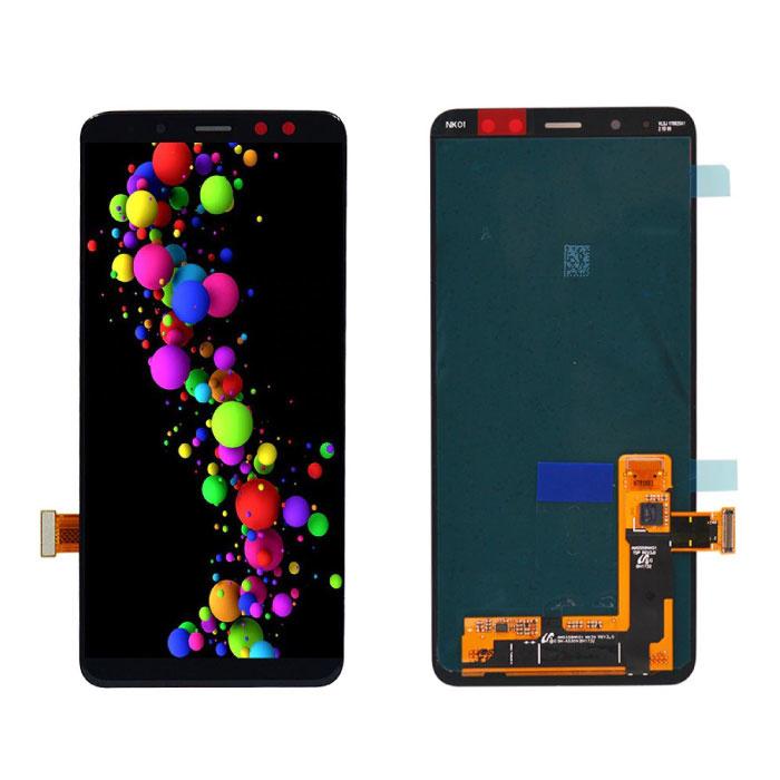 Samsung Galaxy A8 2018 A530 Scherm (Touchscreen + AMOLED + Onderdelen) A+ Kwaliteit - Zwart