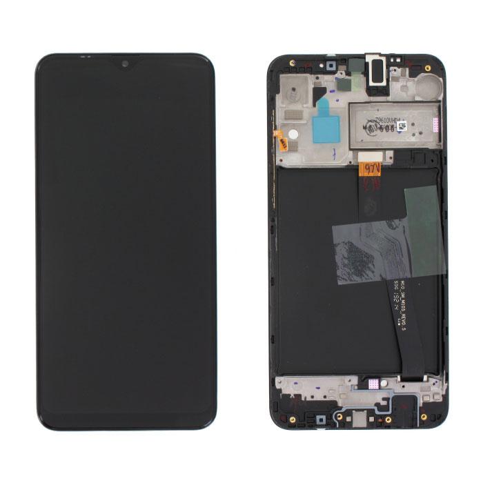 Écran Samsung Galaxy A10 A105 (caméra monotrou) (écran tactile + AMOLED + pièces) A + Qualité - Noir