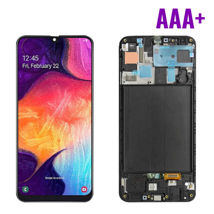 Samsung Galaxy A10 A105 Screen (Touchscreen + AMOLED + Parts) AAA + Quality - Black - Copy - Copy