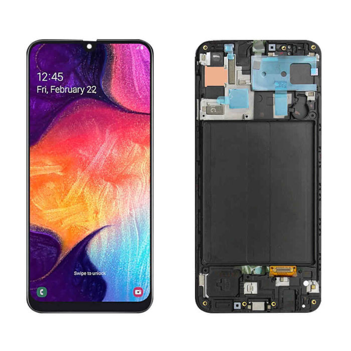 Écran Samsung Galaxy A50 A505 (Écran tactile + AMOLED + Pièces) A + Qualité - Noir