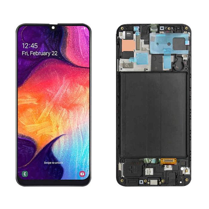 Samsung Galaxy A50 A505 Bildschirm (Touchscreen + AMOLED + Teile) AAA + Qualität - Schwarz