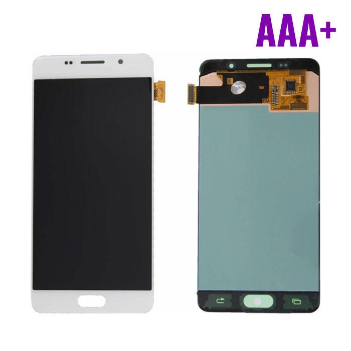 Samsung Galaxy A5 2016 A510 Scherm (Touchscreen + AMOLED + Onderdelen) AAA+ Kwaliteit - Wit