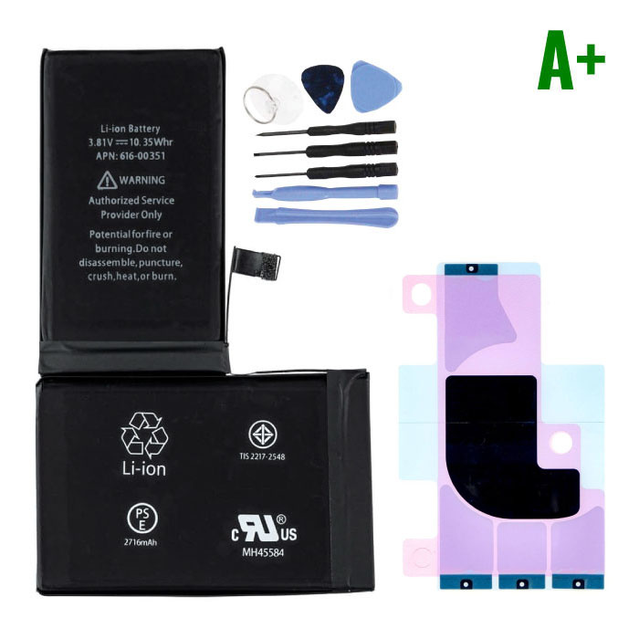 iPhone X Batterij/Accu A+ Kwaliteit + Gereedschap & Batterij Sticker