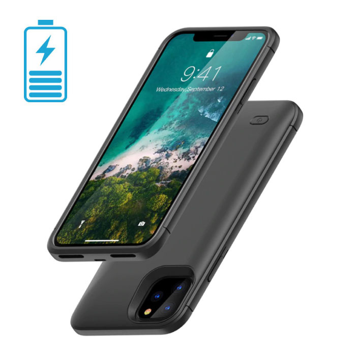 Coque Etui Cover Slim Charger pour iPhone 11, 4000mAh, Powerbank, Noir