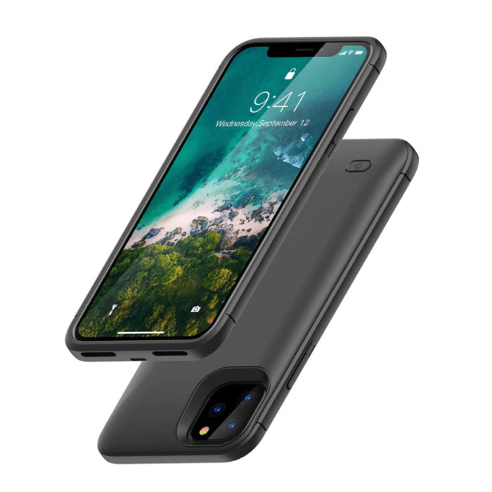 iPhone 11 Pro Max 4000mAh Slim Powercase Powerbank Charger Battery Cover Case Case Black