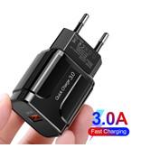 OLAF USB Wall Qualcomm Charge rapide 3.0 Chargeur Chargeur Accueil Chargeur AC Adaptateur prise - Noir