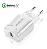 OLAF Qualcomm Charge rapide 3.0 USB Wall Charger Chargeur Accueil Chargeur AC Adaptateur prise - Blanc