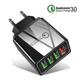 Stuff Certified® Qualcomm Quick Charge 3.0 Quad 4x Port USB Wall Charger Wall Charger AC Home Charger Plug Charger Adapter