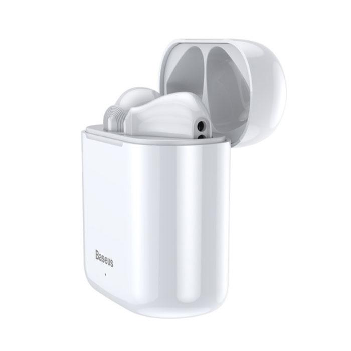Encok W09 TWS Wireless True Touch Control Earphones Bluetooth 5.0 Air Wireless Pods Earphones Earbuds White