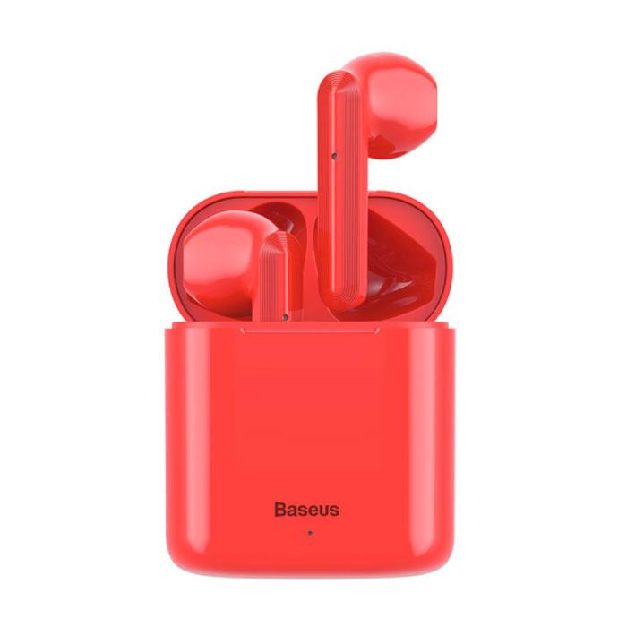 Encok W09 sans fil TWS True Touch contrôle écouteurs Bluetooth 5.0 sans fil Cosses Air Écouteurs Oreillettes Rouge