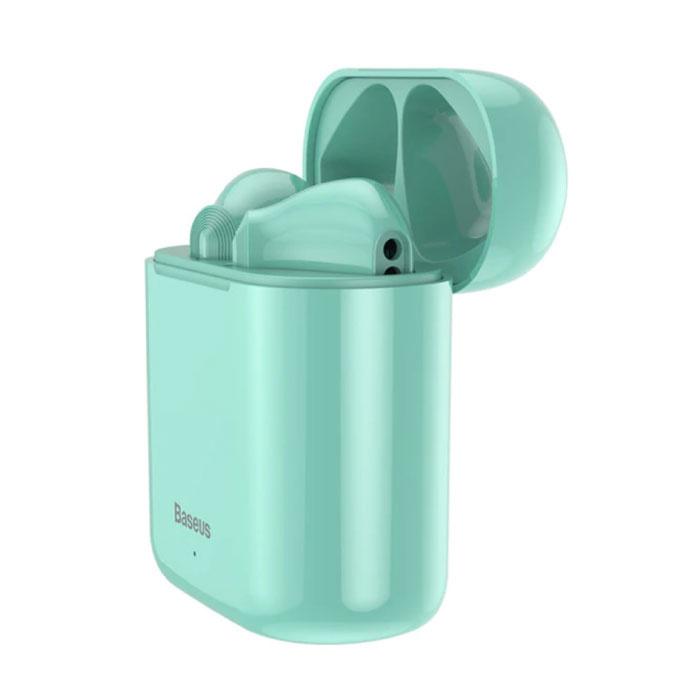 Encok W09 TWS Draadloze True Touch Control Oortjes Bluetooth 5.0 Air Wireless Pods Earphones Earbuds Groen