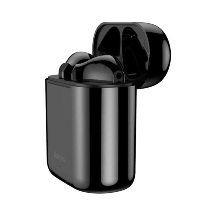 Encok W09 Wireless TWS True Touch Control Earphones Bluetooth 5.0 Wireless Pods Air Earphones Earbuds Black