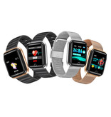 BangWei Fashion Sports Smartwatch Fitness Sport Activity Tracker Smartphone Horloge iOS Android iPhone Samsung Huawei Zilver Zwart TPU