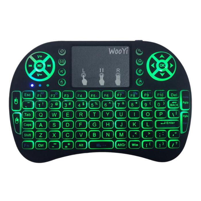 WooYi RGB Backlit i8 Mini Draadloos QWERTY Toetsenbord 2.4GHz voor Mediaspeler TV Box Android Xbox Playstation
