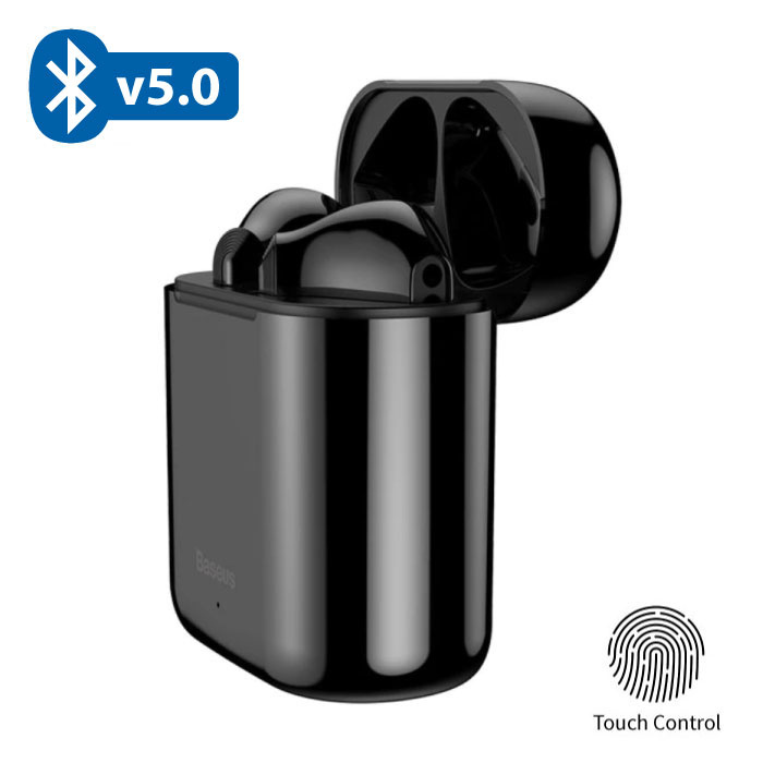 Encok W09 TWS Wireless True Touch Control Earphones Bluetooth 5.0 Air Wireless Pods Earphones Earbuds Black