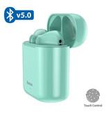 Baseus Encok W09 TWS Draadloze True Touch Control Oortjes Bluetooth 5.0 Air Wireless Pods Earphones Earbuds Groen