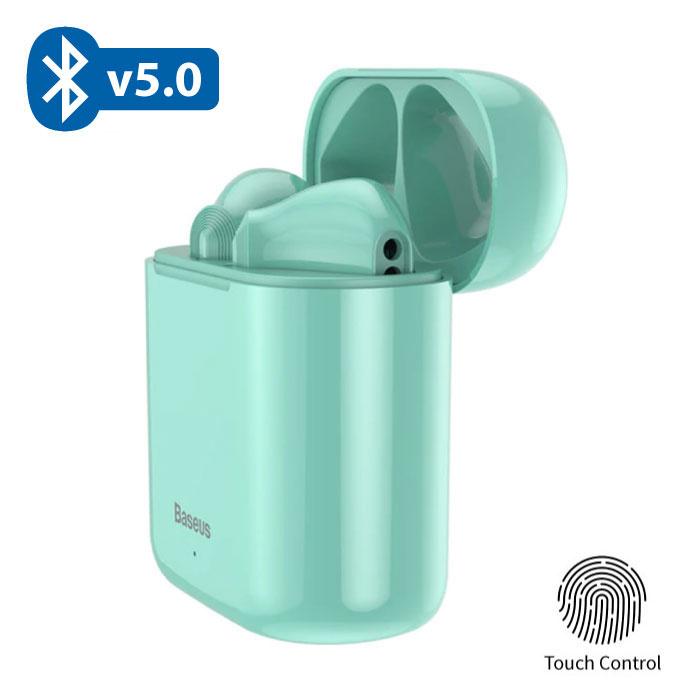 Encok W09 TWS Wireless True Touch Control Earphones Bluetooth 5.0 Air Wireless Pods Earphones Earbuds Green