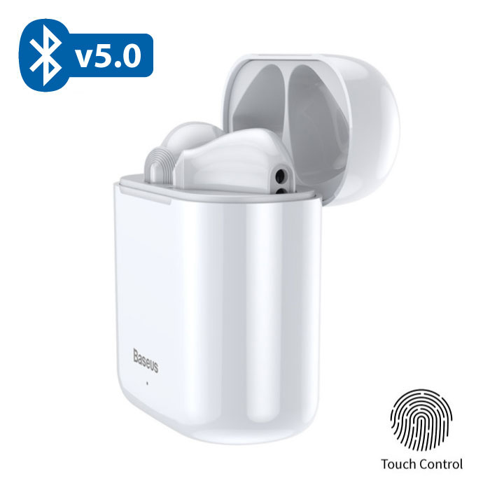 Encok W09 TWS Wireless True Touch Control Earphones Bluetooth 5.0 Air Wireless Pods Earphones Earbuds White