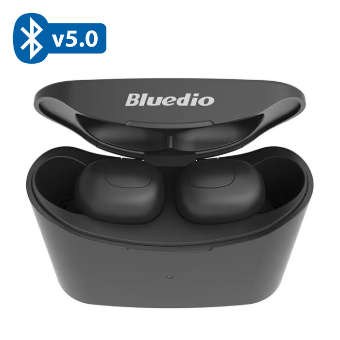 Bluedio T-Elf Mini TWS Draadloze Bluetooth 5.0 Oortjes Air Wireless Pods Earphones Earbuds Zwart