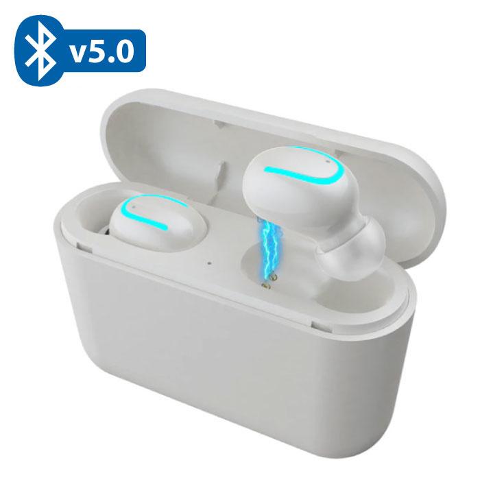 TWS AirPower Draadloze Bluetooth 5.0 Oortjes Air Wireless Pods Earphones Earbuds Wit - Helder Geluid
