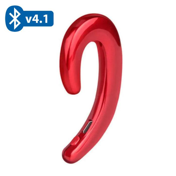 Draadloze Bluetooth 4.1 Bone Conduction Headset Oortjes met Microfoon Rood