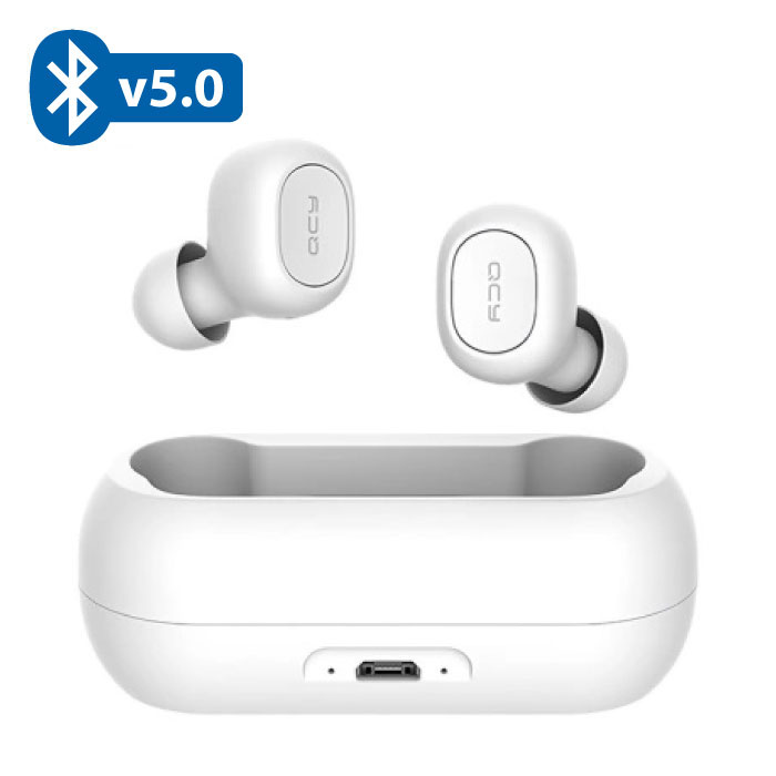 QCY T1C Draadloze Bluetooth 5.0 Oortjes Air Wireless Pods Earphones Earbuds Wit - Helder Geluid