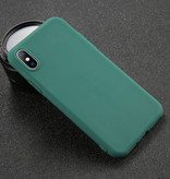 USLION iPhone 5s Ultra Slim Etui en silicone TPU couverture vert