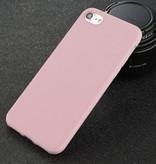 USLION Ultraslim iPhone 5S Silicone Hoesje TPU Case Cover Roze