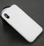 USLION Ultraslim iPhone 5S Silicone Hoesje TPU Case Cover Wit