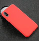 USLION iPhone SE Ultra Slim Etui en silicone TPU couverture rouge