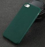 USLION iPhone SE Ultra Slim Etui en silicone TPU couverture vert