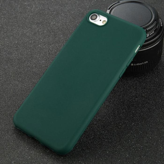 USLION Ultraslim iPhone SE Silicone Hoesje TPU Case Cover Groen