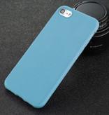 USLION Ultraslim iPhone SE Silicone Case TPU Case Cover Blue