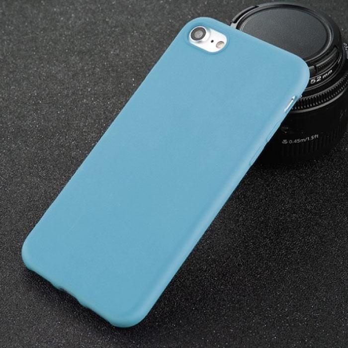 USLION iPhone SE Ultra Slim Etui en silicone TPU Case Cover Bleu