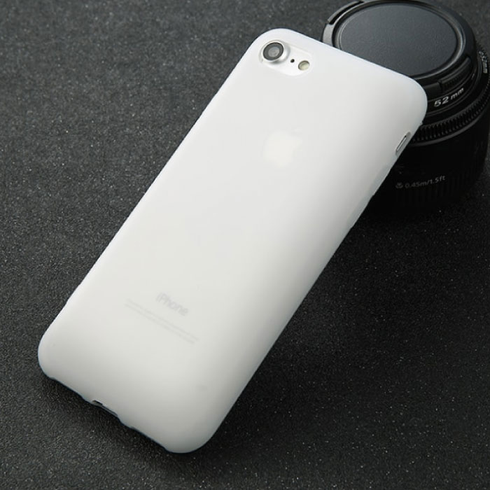 USLION iPhone 6S Plus Ultra Slim Etui en silicone TPU blanc couverture