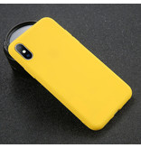 USLION iPhone 6S Plus Ultra Slim Etui en silicone TPU couverture jaune