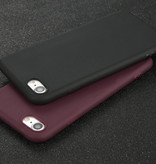 USLION iPhone 7 Plus Ultra Slim Etui en silicone TPU Case Cover Noir