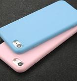 USLION Ultraslim iPhone SE Silicone Hoesje TPU Case Cover Blauw