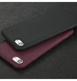 USLION Ultraslim iPhone SE Silicone Hoesje TPU Case Cover Paars