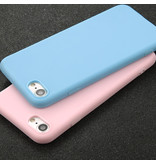 USLION Ultraslim iPhone 5S Silicone Hoesje TPU Case Cover Paars