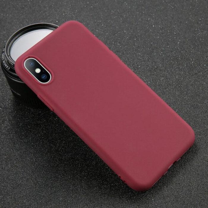 iPhone 8 Plus Ultraslim Silicone Hoesje TPU Case Cover Bruin
