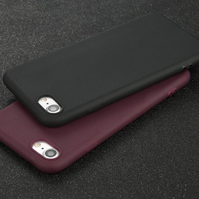 USLION iPhone 8 Plus Ultra Slim Etui en silicone TPU couverture marine