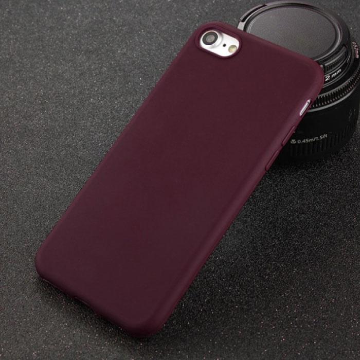USLION iPhone 8 Plus Ultra Slim Etui en silicone TPU Case Cover Brown